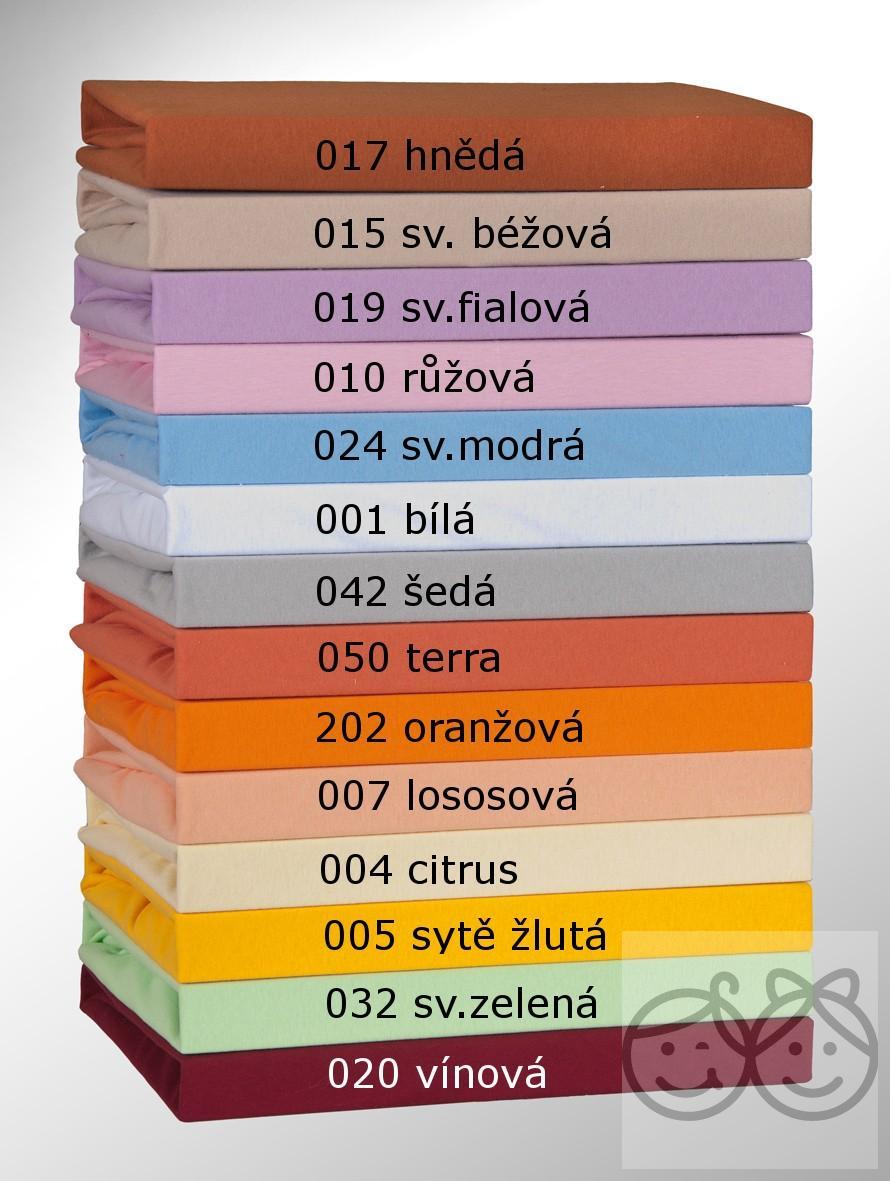 Bavlněné prostěradlo do postýlky JERSEY VERATEX 120/60cm - sv.fialová