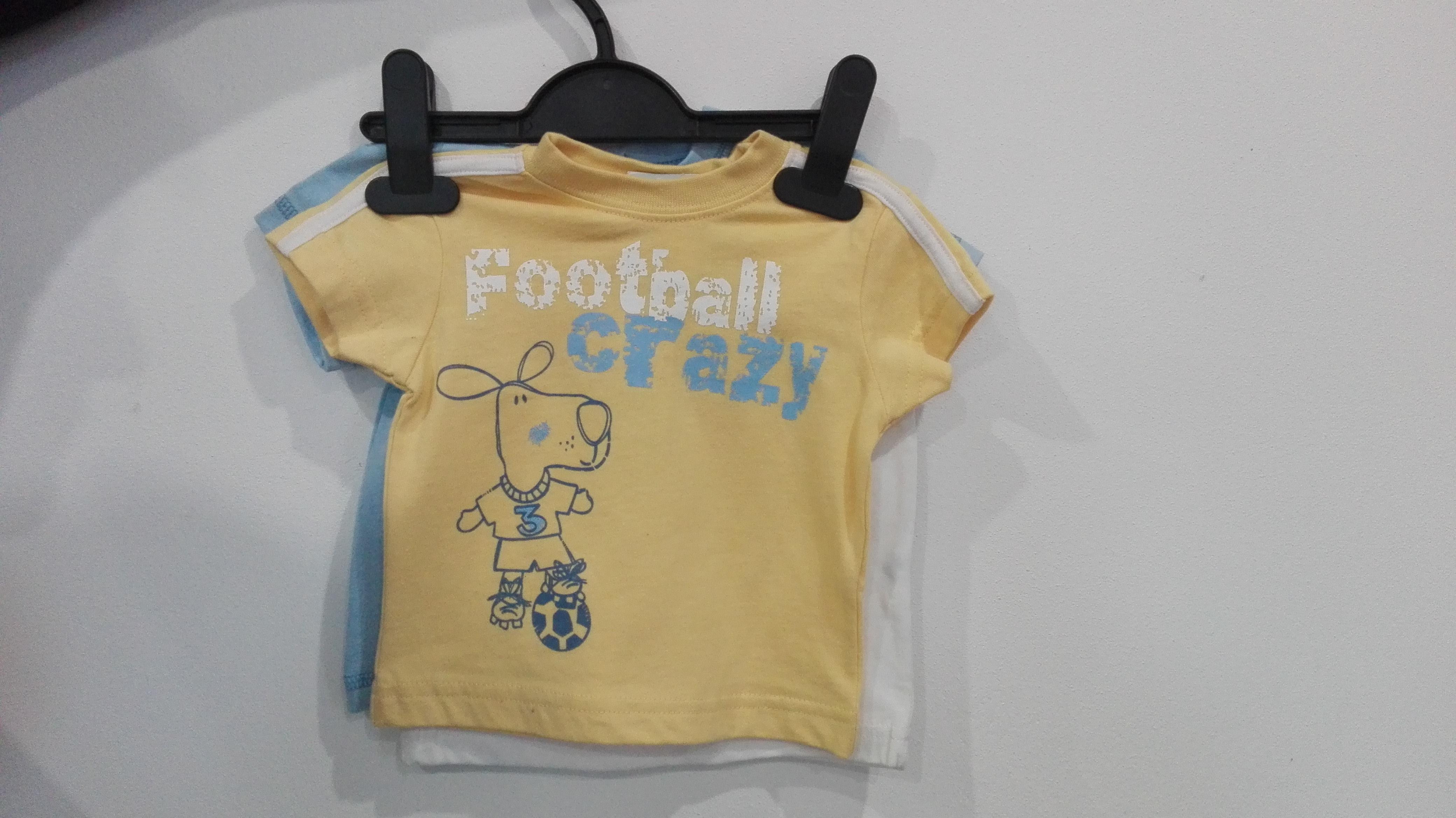 3 dílný set triček pro kojence, vel. 56