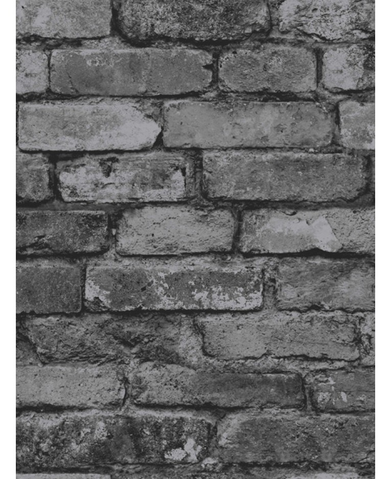 Tapeta Black Grey Brick cihličky antracit 10m