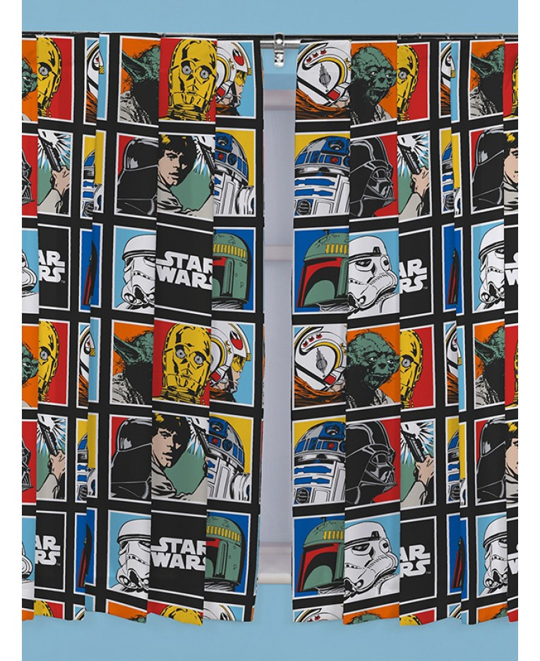 Závěsy Star Wars Classic Force 168x183cm