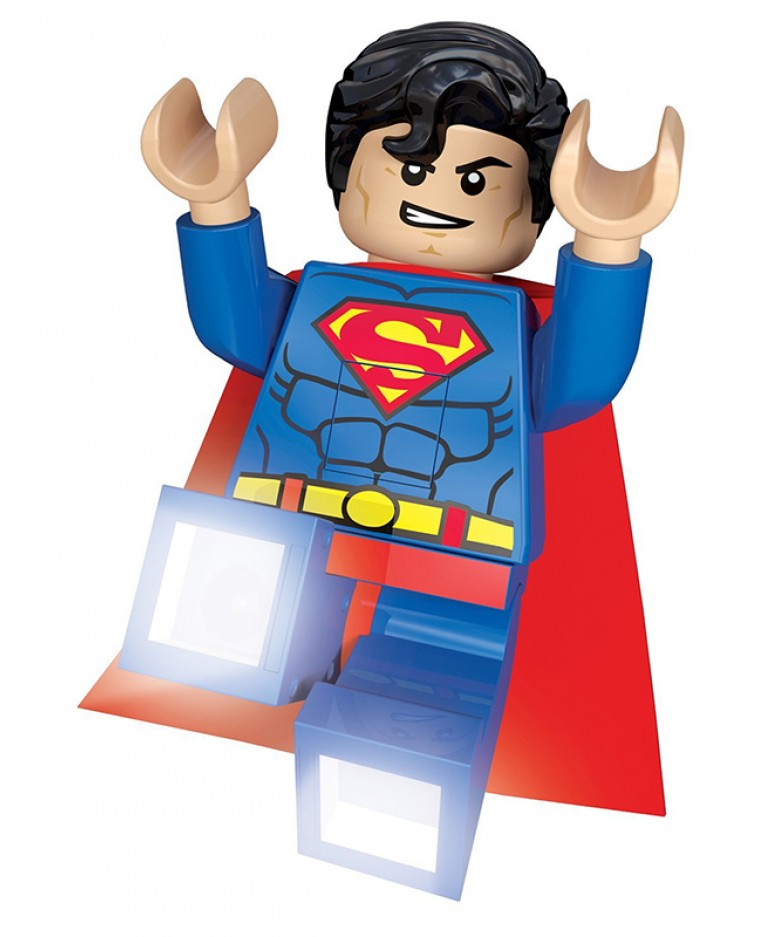 LED lampička baterka Superman Lego