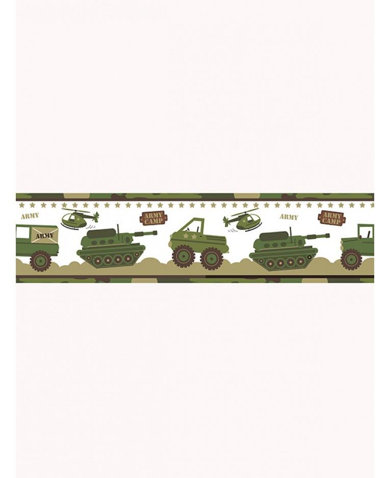 Bordura na zeď Army maskáč 13cm x 5m