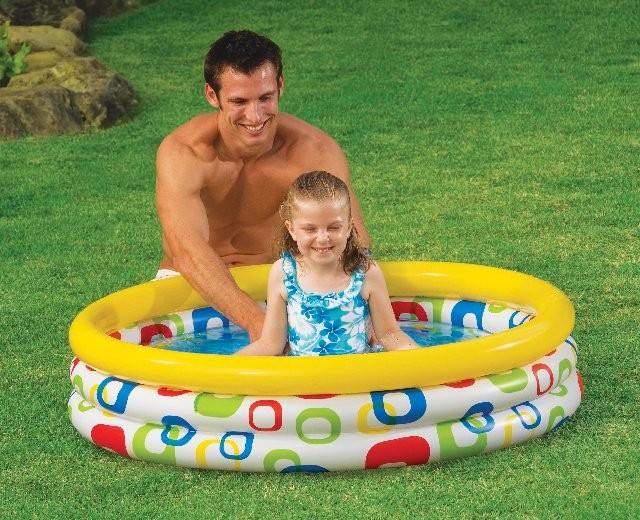 Bazén dětský kulatý s potiskem nafukovací 168 x 40 cm