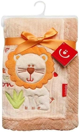 Dětská deka z mikrovlákna Béžová - lvíček 76x102cm