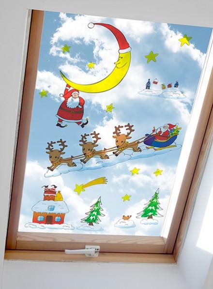 Vánoční samolepky na okno I