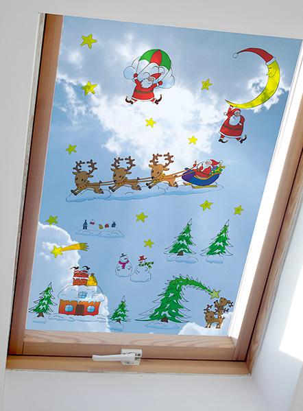 Vánoční samolepky na okno II