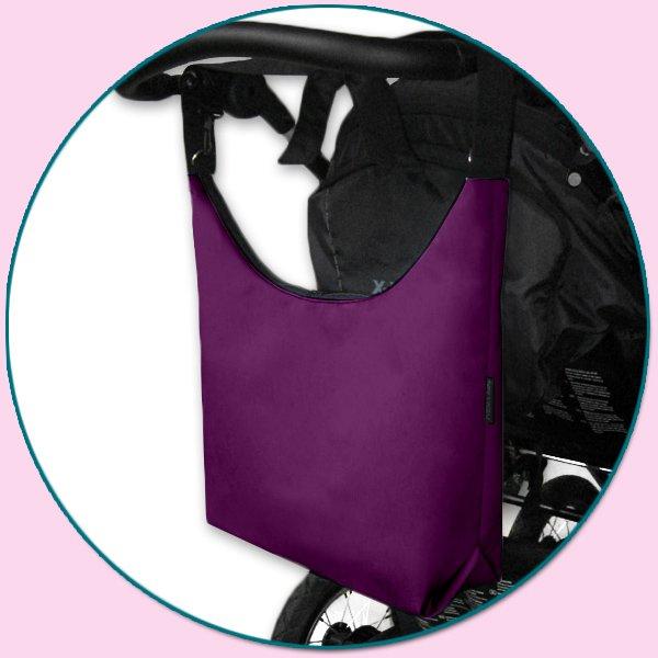 TAŠKA NA KOČÁREK - SIMPLY BAG tmavě fialová