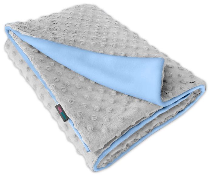 Dětská fleece deka Minky sv.šedá/sv.modrá oboustranná