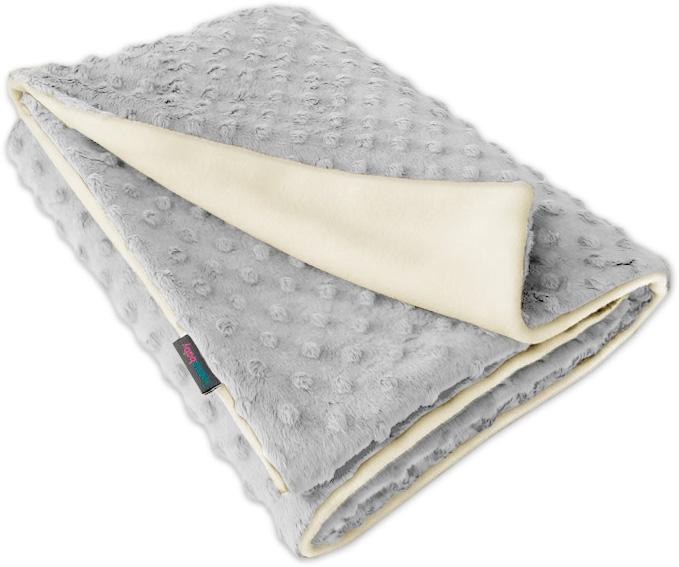 Dětská fleece deka Minky sv.šedá/přírodní oboustranná