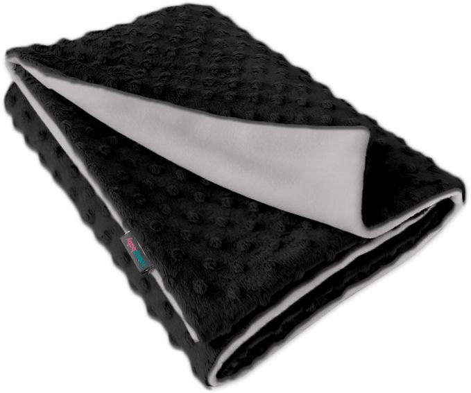 Dětská fleece deka Minky černá/sv.šedá oboustranná