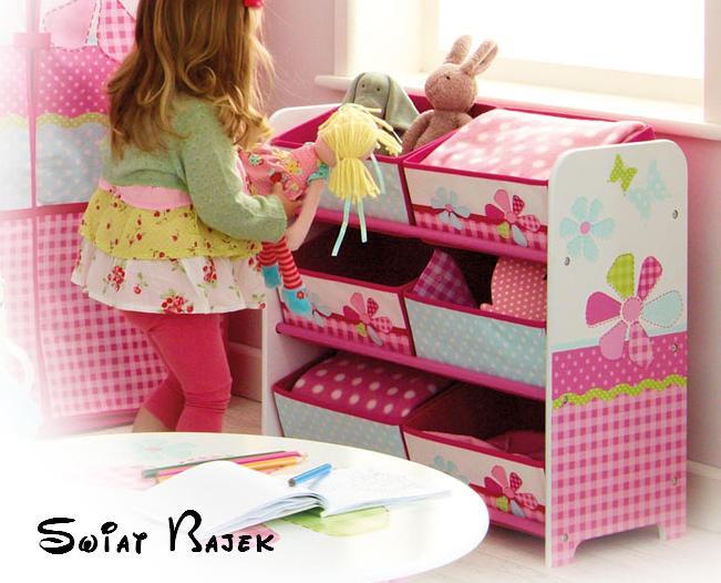 Komoda na hračky Motýli a květiny Patchwork organizér