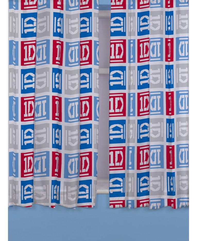 Výprodej! Závěsy One Direction Kostka 168x137cm