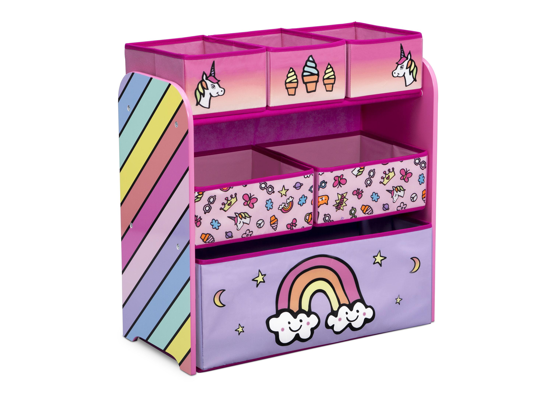 Komoda na hračky, organizér Růžový jednorožci