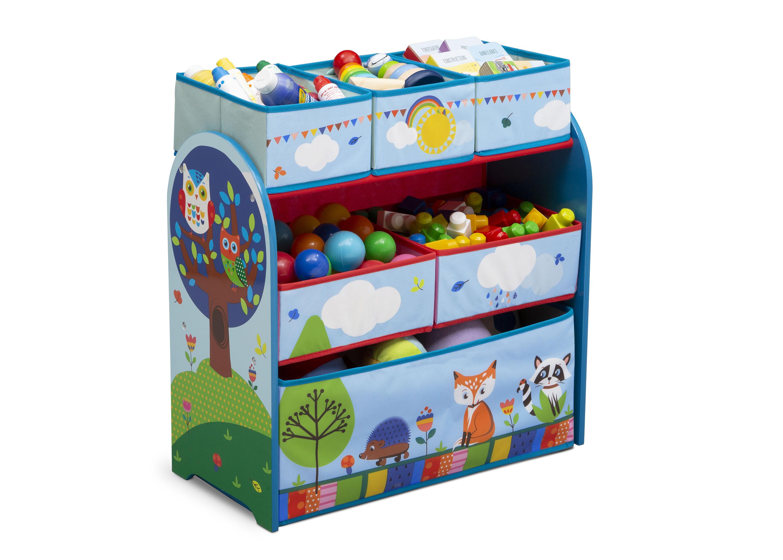 Komoda na hračky, organizér Zvířátka modrá