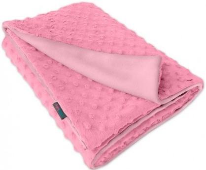 Dětská fleece deka Minky růžová/růžová oboustranná
