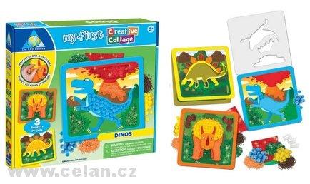 Dino obrázek kreativní 3 ks