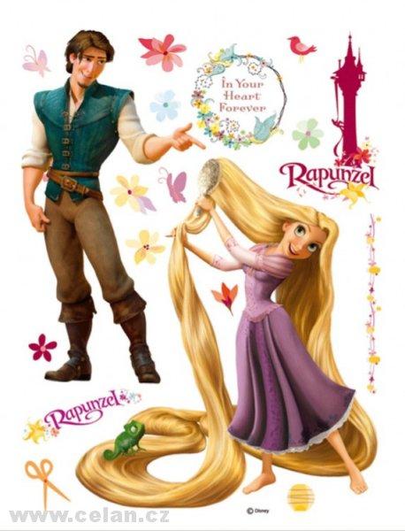 Samolepky na zeď maxi Rapunzel a Princ