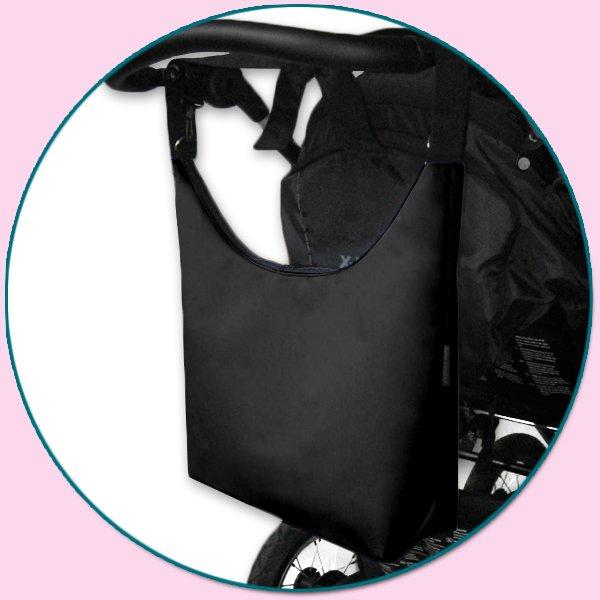 TAŠKA NA KOČÁREK - SIMPLY BAG černá