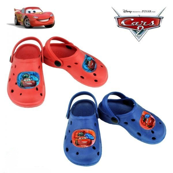 Plážové boty  sandále Cars červené vel. 24