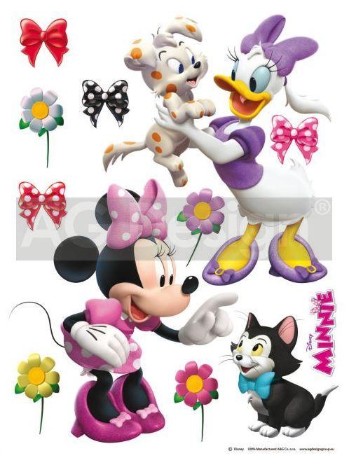 Samolepky na zeď Minnie a zvířátka